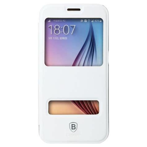 b med mobile baseus primary dual view window till samsung galaxy s6