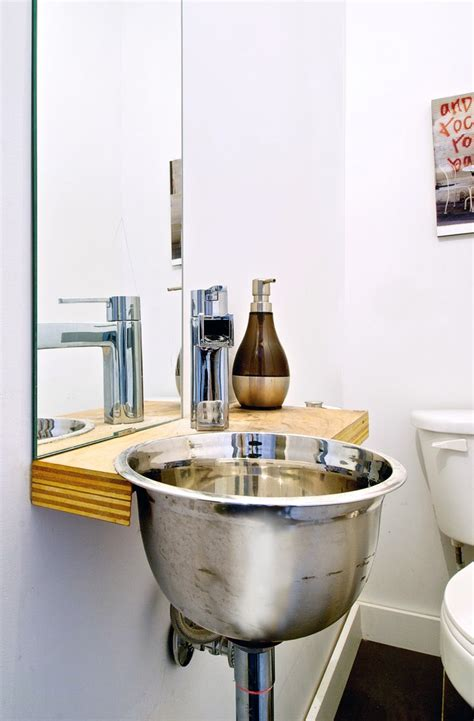 Industrial Modern Bathroom Mirrors Modern Bathroom Sinks Powder Room Industrial With Shelf