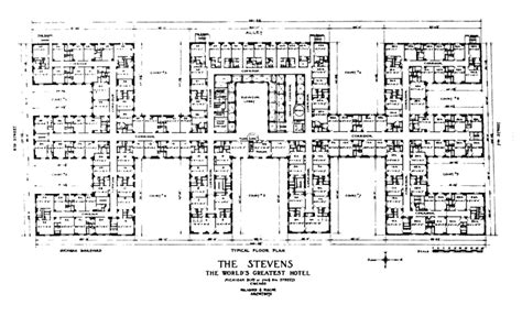 Apartment Floor Plans With Dimensions by File Hilton Hotel Stevens Floor Plan Jpg Wikimedia Commons