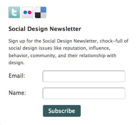 College Letter Sign Up A Guide To Creating Email Newsletters Webdesigner Depot