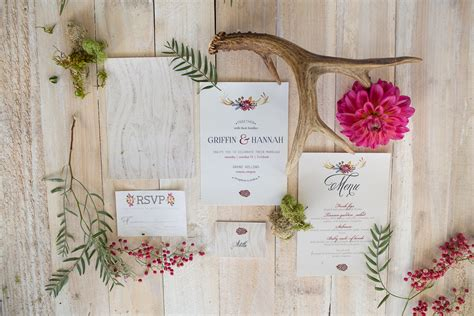 woodsy themed wedding invitations an woodsy themed wedding with cakes
