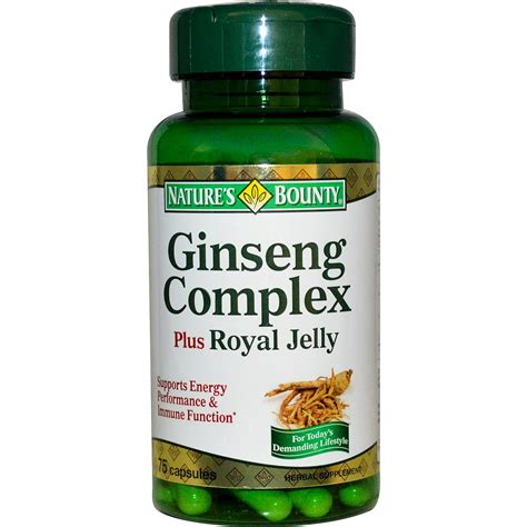 Royal Jeli Ginseng nature s bounty ginseng complex plus royal jelly 75 capsules iherb