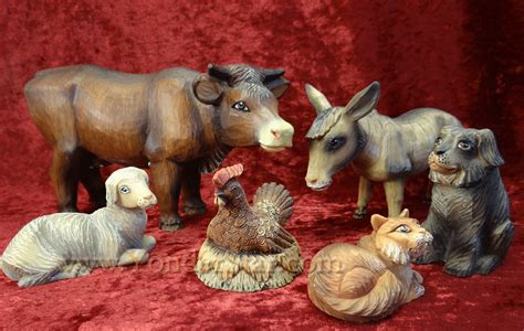 folk nativity scene animals g debrekht derevo