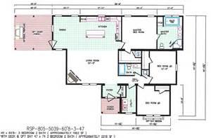 3 Bedroom Mobile Home Floor Plans by 3 Bedroom Floor Plan F 5039 Hawks Homes Manufactured
