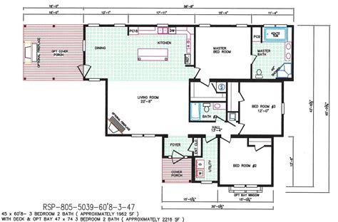 3 bedroom mobile home floor plans 3 bedroom floor plan f 5039 hawks homes manufactured