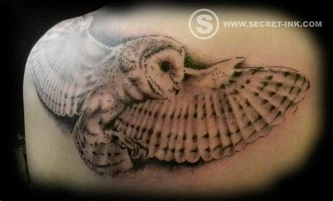 barn owl tattoo realistic secret ink
