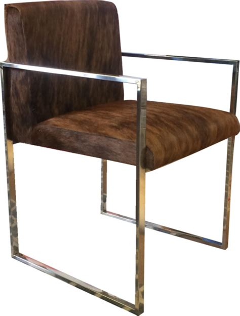 Modern Cowhide Chair - brixton cowhide chair modern dining chairs by design