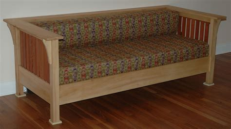 mission style couch the mountain woodworker