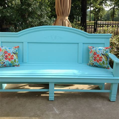 benches made from headboards a refurbished bench made from queen sized headboard