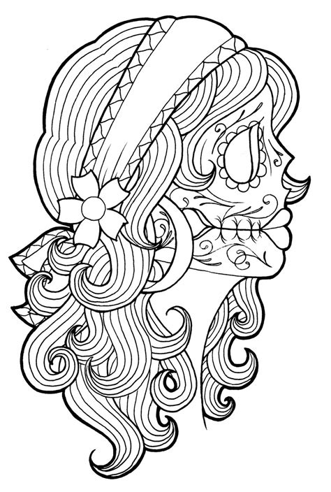 day of the dead face coloring pages the j s world o stuff