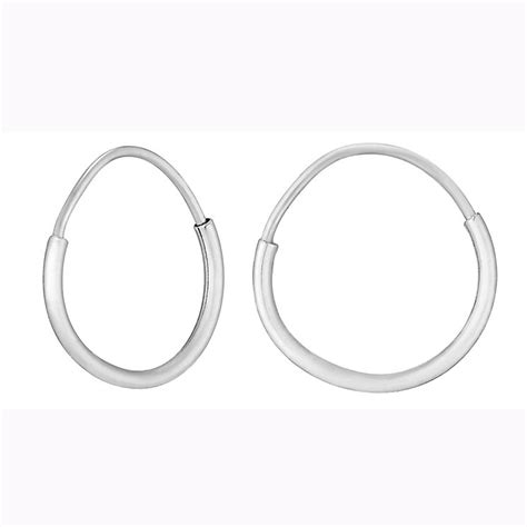 9ct white gold small sleeper earrings h samuel