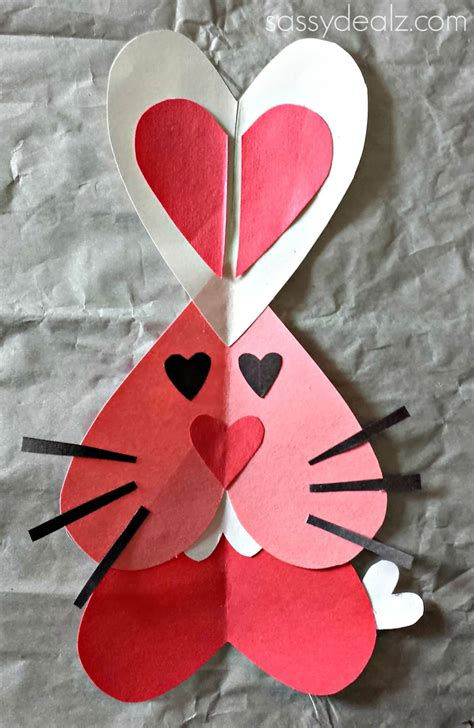 valentines day rabbit bunny rabbit craft for s day project