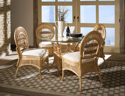 wicker dining room sets rattan dining set tropical breeze tropical furniture