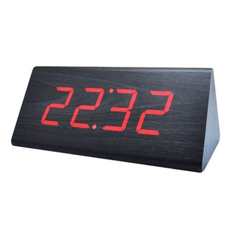 Led Digital Wood Clock Jk 828 led digital wood clock jk 838 black jakartanotebook