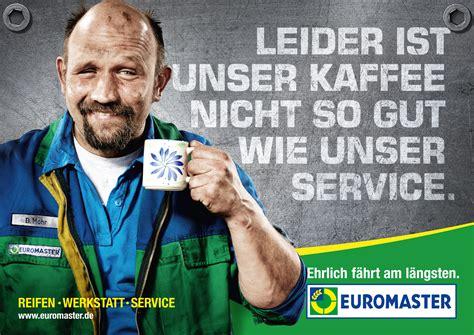 werkstatt werbung euromaster will mithilfe weigert pirouz wolf vollgas geben