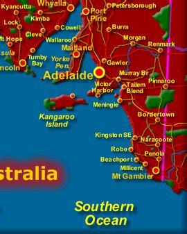 south australia map sa