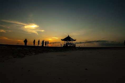 sunrise   gazebo bali indonesia stock photo image