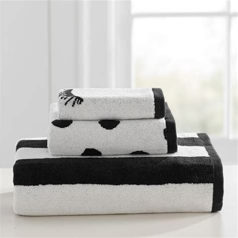 Black And White Bathroom Towel Sets by The Emily Meritt Black And White Towel Set Pbteen