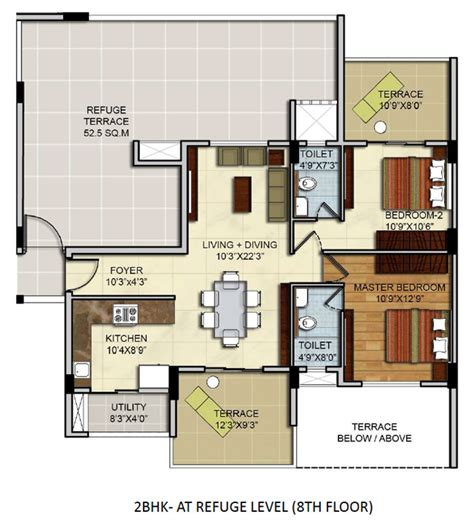 2 bhk flat plan residential apartments floor plans site plan 2 bhk 3