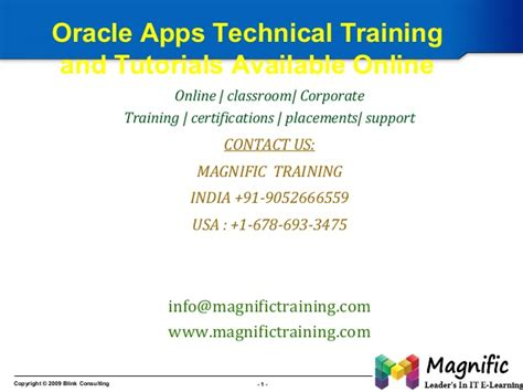 tutorial on oracle apps technical oracle apps technical training and tutorials available online