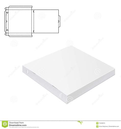 package design layout vector pizza package box 1 stock vector image of blank isolated