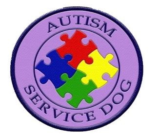 autism service dogs service patches access ada service patches