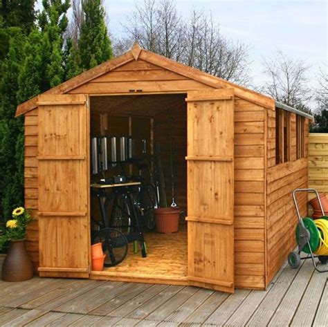 12ft X 4ft Shed 12 X 8 Waltons Overlap Apex Wooden Shed