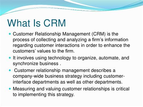 Crm Notes For Mba Students by Crm Cycle