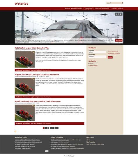 drupal theme documentation waterloo drupal free themes