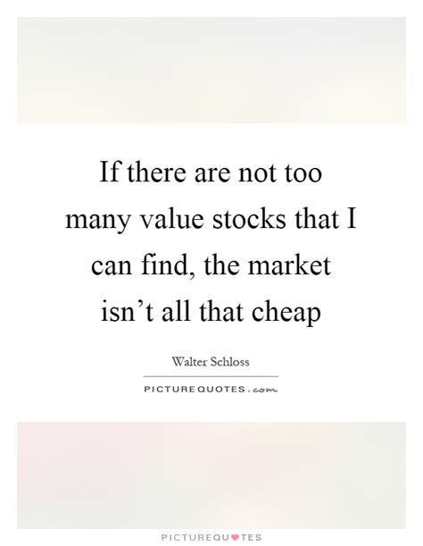 if there are not many value stocks that i can find