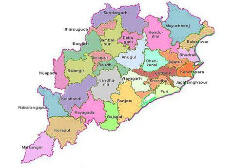 Odisha Map Outline by Odisha Map Odisha District Map District Map Of Odisha