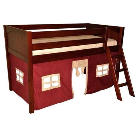 maxtrix bunk bed maxtrix kids bunk or loft bed w red corduroy tent