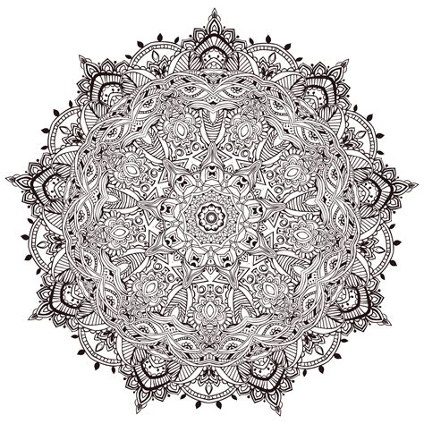 fleur de lotus mandala coloriagetv very detailled mandala by anvino mandalas coloring