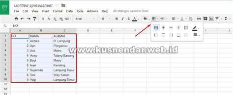 membuat garis html membuat garis tabel html membuat tabel file excel secara