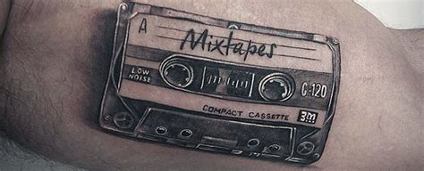 cassette tape tattoo 50 cassette designs for retro ink ideas