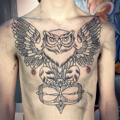 tattoo across your chest owl tattoo across chest tattoo collection