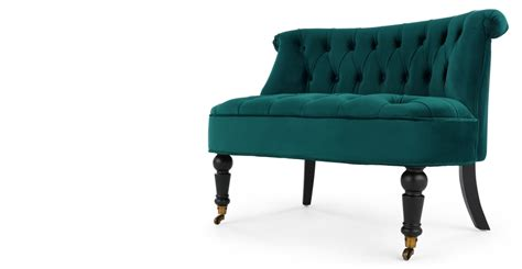 Flexiblelove Chair Seats One Two Eight by Bouji Seat Seafoam Blue Velvet Made