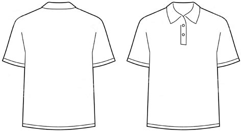 Template T Shirt Back Template Best Polo Vectors Free Vector Download For Commercial Use In Polo Shirt Template