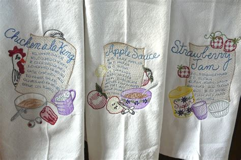 Embroidery Designs For Kitchen Towels Kitchen Towel Embroidery Designs Peenmedia