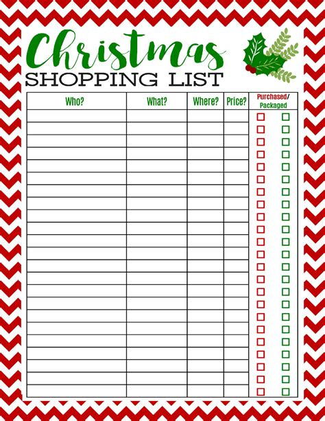 freebie printable christmas shopping list mom 4 real
