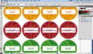 canning label template merriment design