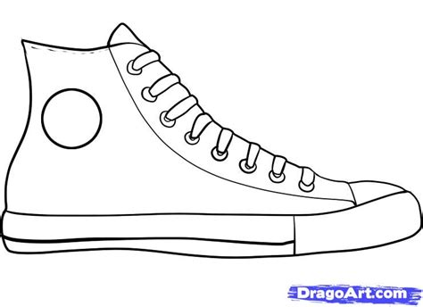 how to draw basketball shoes shoe pencil and in color shoe