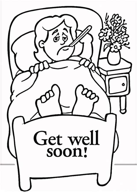 coloring pages that say get well soon card invitation sles get well soon printable cards