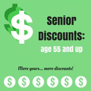 senior discounts: age 55