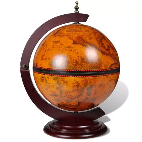 liquor table tabletop bar globe with embowed stand wine liquor table