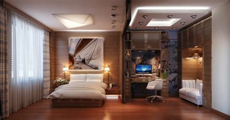 Amazing Home Interior Designs cozy modern and practical bedroom with a travel inspired