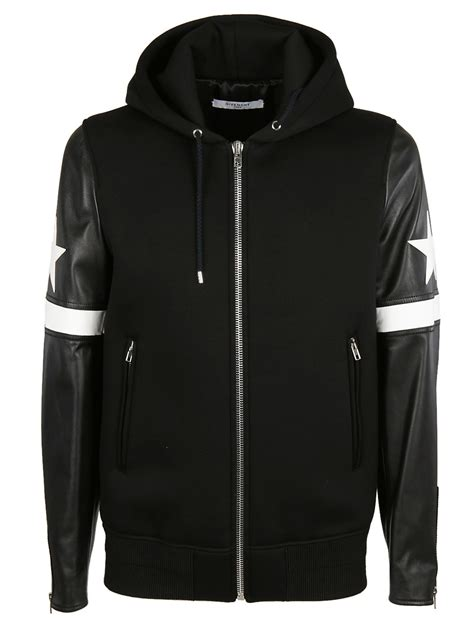 Applique Hooded Zip Jacket givenchy givenchy and stripe applique hooded jacket