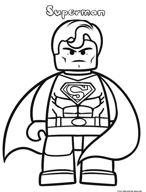 Superman Coloring Pages To Print Out lego superman coloring pages to print for kidsfree