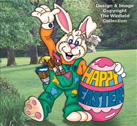 Easter Bunny Artist Yard Woodworking Easter Bunny Artist Yard Display Pattern