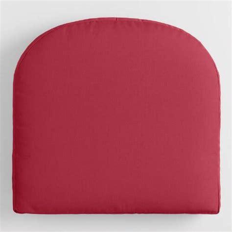 sunbrella blush pink canvas gusseted outdoor chair cushion